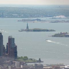 Estátua da Liberdade com zoom.